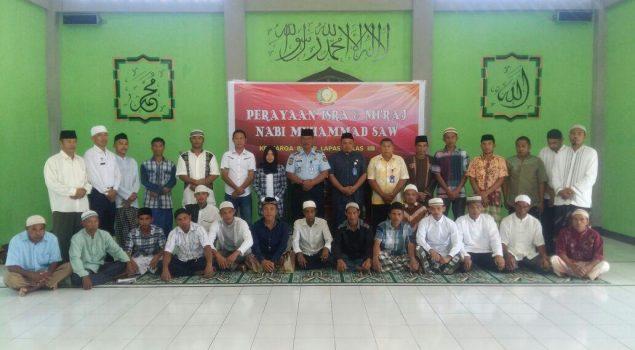 Lapas Piru Peringati Isra Miraj Bersama Kemenag Kabupaten Seram