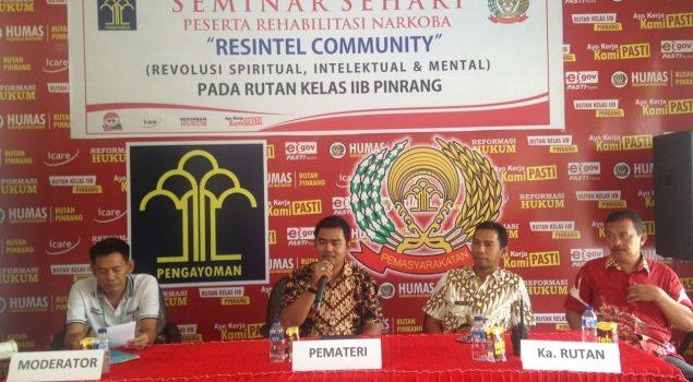WBP Inisiasi Seminar Narkoba di Rutan Pinrang