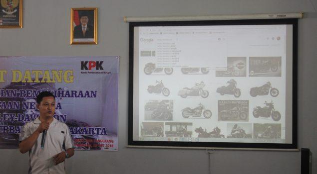 Petugas Adpel Rupbasan se-DKI Jakarta Belajar Pemeliharaan Harley Davidson