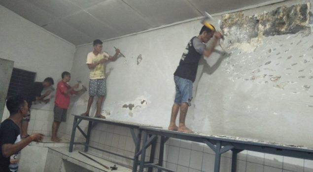 Jelang Ramadan, Rutan Bantaeng Merenovasi Dapur WBP