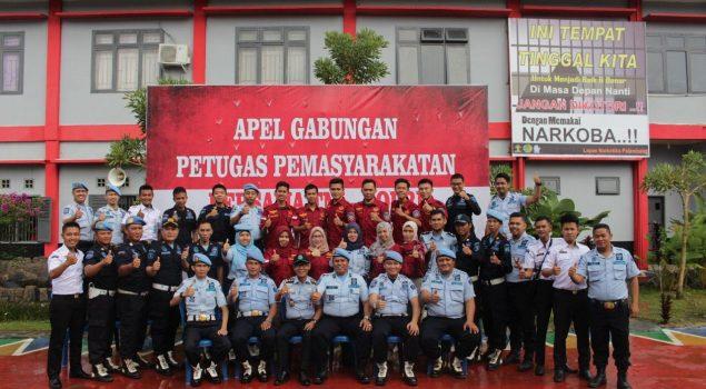 Lapas Narkotika Palembang Gelar Apel Gabungan dengan TNI/Polri