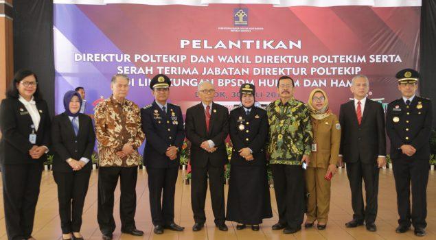 Kepala BPSDM Hukum dan HAM Lantik Direktur Poltekip Wanita Pertama