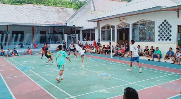 WBP Latihan Sepak Takraw Bersama Tim Porda Bantaeng