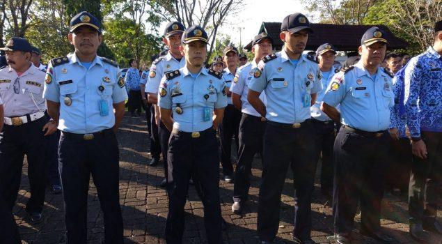 Barisan Petugas Rutan Barru Ikuti Upacara Kesadaran Nasional