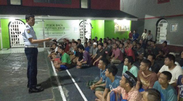 Sidak Malam di Rutan Serang Sterilkan Kamar Hunian WBP