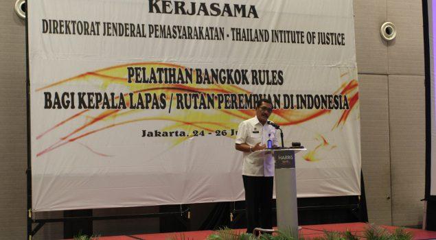 Thailand Institute of Justice Berikan Pelatihan Kalapas dan Karutan Perempuan se-Indonesia