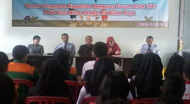 LPKA Blitar Fasilitasi Penguatan Kapasitas Forum Anak