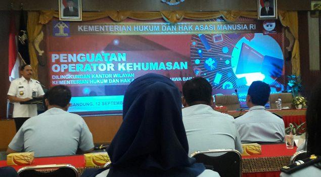 Kontributor Rupbasan Bandung Ikuti Penguatan Operator Kehumasan