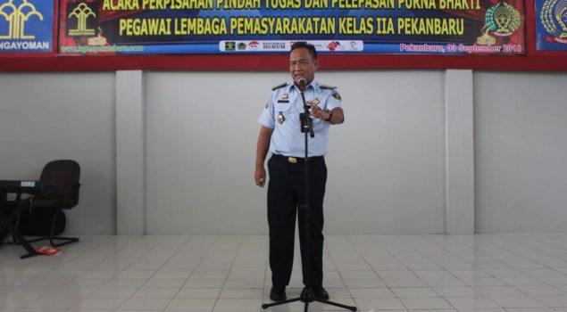 Tangis Haru Warnai Pelepasan Petugas Lapas Pekanbaru