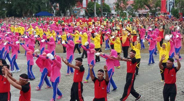 Lapas Watampone Meriahkan Pemecahan Rekor MURI Senam Gemu Fa Mi Re
