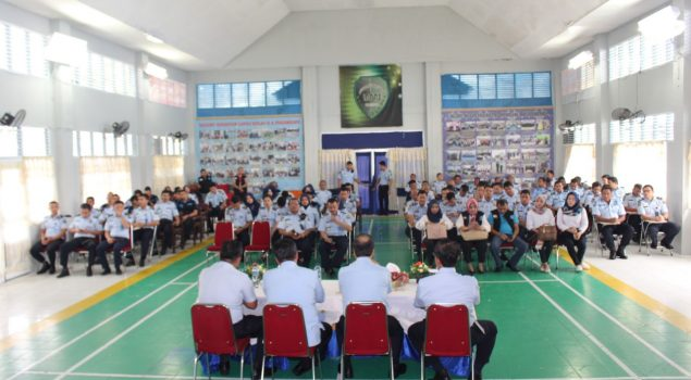 Pengarahan Kakanwil Riau Semangati Petugas Lapas Pekanbaru