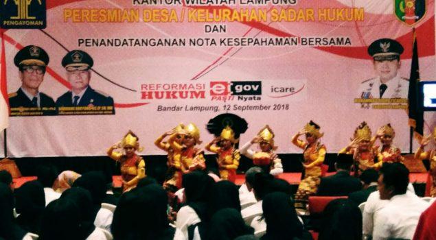 WBP LPP Lampung Tampil dalam Acara Penandatanganan MoU