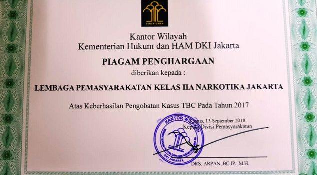 LPN Jakarta Raih Penghargaan Keberhasilan Pengobatan TB