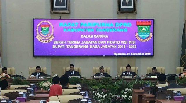 Hadiri Sertijab Bupati & Wakil Tangerang, Ini Asa Karutan Tangerang