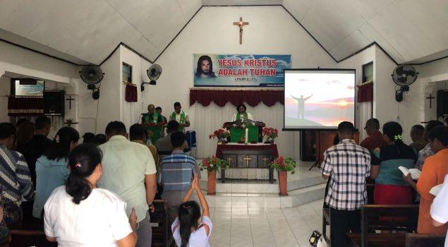 Ibadah Minggu di Rutan Kupang Dihadiri Keluarga WBP