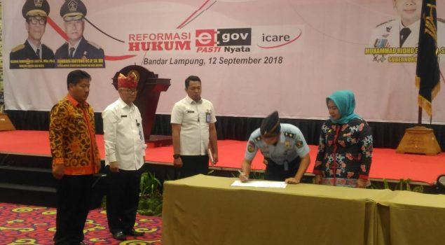 Kerja Sama Layanan Kesehatan, Lapas Gunung Sugih Gandeng Disdukcapil Lampung Tengah