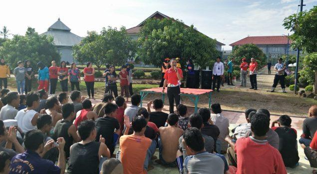 Tingkatkan Kesehatan WBP, Lapas Gunung Sugih Gandeng Sanggar Senam Yani BJ