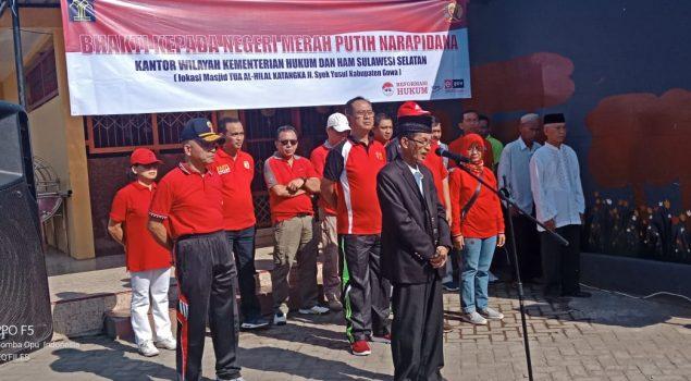 WBP LPP Sungguminasa Bersihkan Masjid Tua Katangka