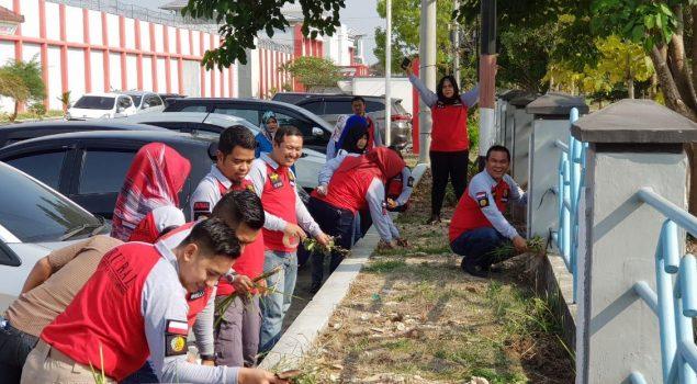 Peduli Lingkungan, Rutan Bandar Lampung Gelar Bersih-Bersih