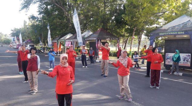Rutan Wates Olahraga Bersama Dinkes Kulonprogo