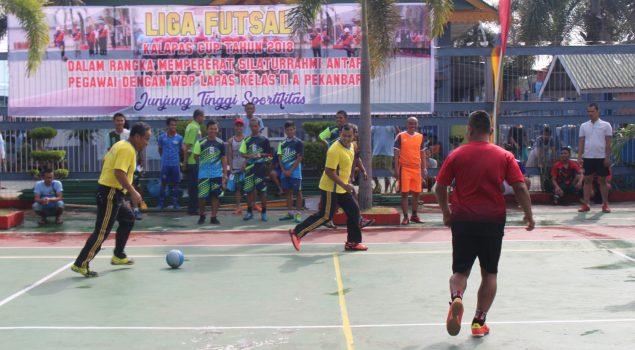 Liga Futsal Kalapas Pekanbaru Fasilitasi Pembinaan WBP