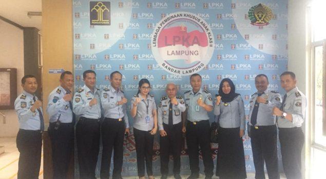 Tim Monev Kanwil Lampung Sambangi LPKA Lampung