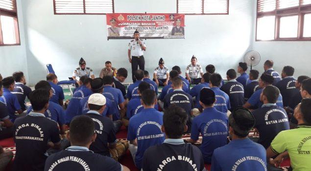 WBP Rutan Jantho Ikuti Sosialisasi Bahaya Narkoba