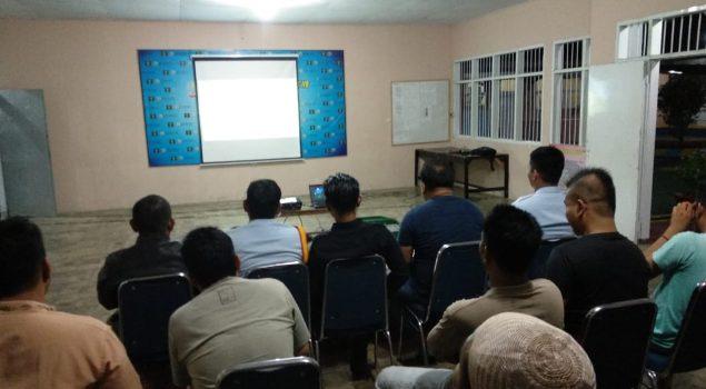 WBP Rutan Barru Nobar Dukung PSM Makassar