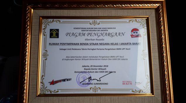 Rupbasan Jakbar & Tangerang Peringkat I Pengelolaan BMN