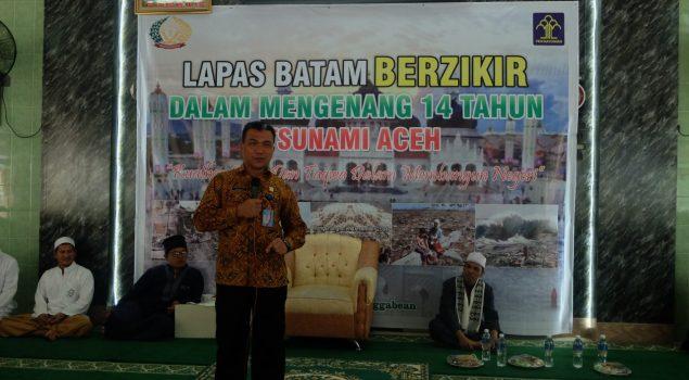Dzikir & Doa Bagi Korban Tsunami Dilantunkan Petugas & WBP Lapas Batam