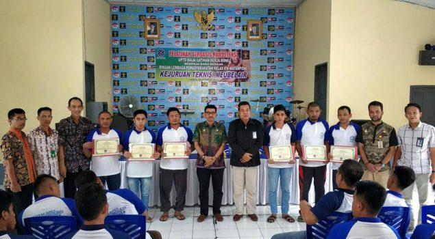 40 WBP Lapas Watampone Lulus Pelatihan Berbasis Kompetensi