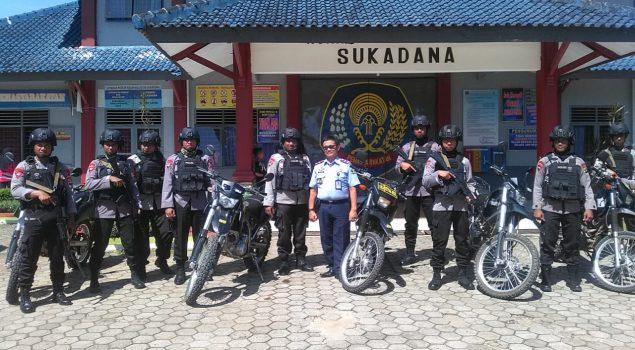 Rutan Sukadana Pererat Sinergi dengan Korps Brimob Lampung Timur