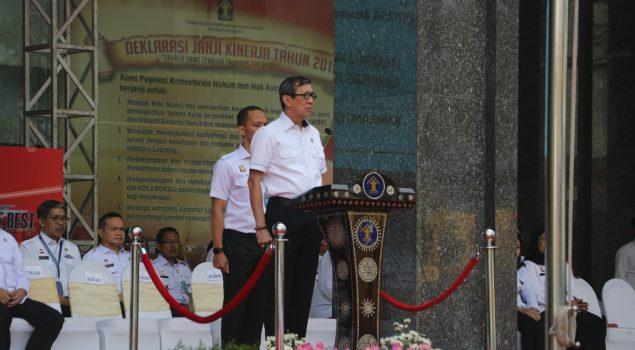 Direktorat Jenderal Pemasyarakatan Kementerian Hukum dan HAM Berkomitmen Dalam Janji Kinerja 2019