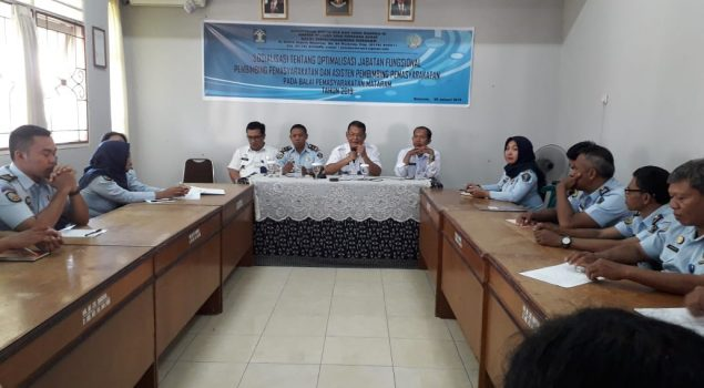 Divisi PAS NTB Gelar Sosialisasi Optimalisasi PK di Bapas Mataram