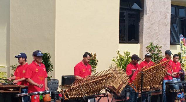 D'Tawon Band Rutan Wonosobo Meriahkan Peresmian Markas Polres Wonosobo