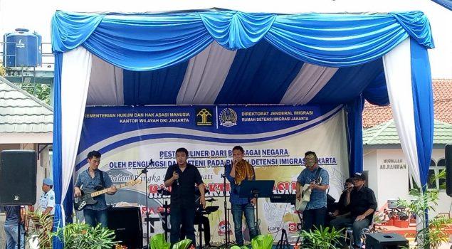 Band Musik Akustik LPN Jakarta Pukau Pesta Kuliner di Rudenim Jakarta