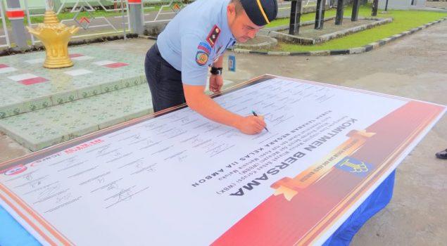 Rutan Ambon Deklarasikan Janji Kinerja Demi Raih WBK/WBBM