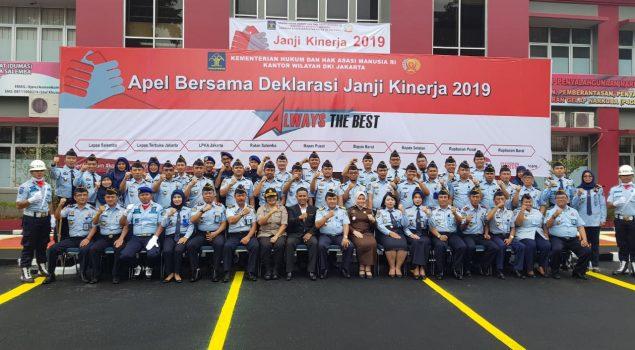 Petugas PAS Wilayah Jakpus Apel Bersama Deklarasi Janji Kinerja Tahun 2019