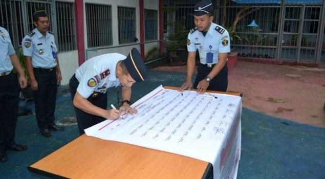 Lapas Kotabumi Canangkan Zona Integritas Menuju WBK/WBBM