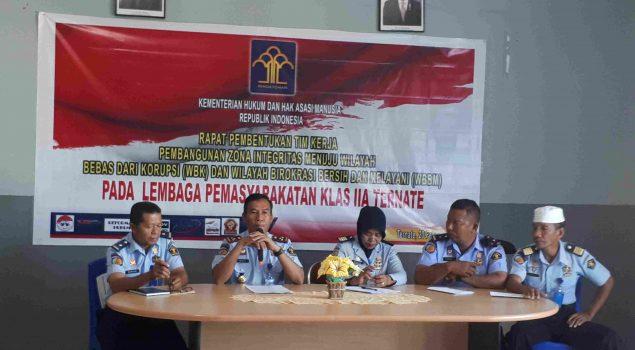 Bentuk Tim Pokja, Lapas Ternate Siap Wujudkan WBK/WBBK