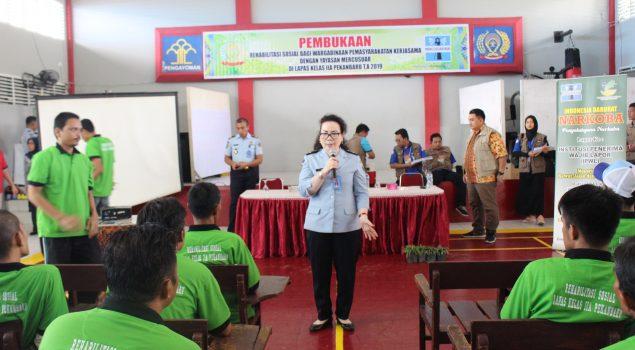 Gandeng Yayasan Mercu Suar, Lapas Pekanbaru Gelar Rehabilitasi WBP
