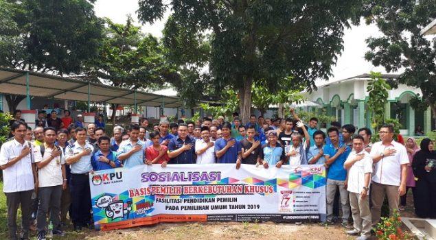 WBP Lapas Way Kanan Ikuti Sosialisasi Jelang Pemilu 2019