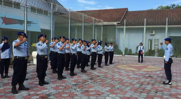 Latihan Keterampilan Baris Berbaris, Penyegaran Petugas Rutan Bantul