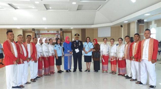 Tarian Katreji Lapas Piru Meriahkan Pisah Sambut Kakanwil Maluku