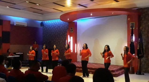 Penampilan WBP Lapas Perempuan Ambon Meriahkan Pembukaan Rakernas PAS 2019