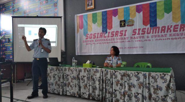 Sosialisasi Sisumaker Optimalkan Persuratan di Bapas Makassar