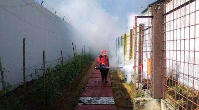 Fogging di Lapas Sibolga Optimalkan Pencegahan DBD