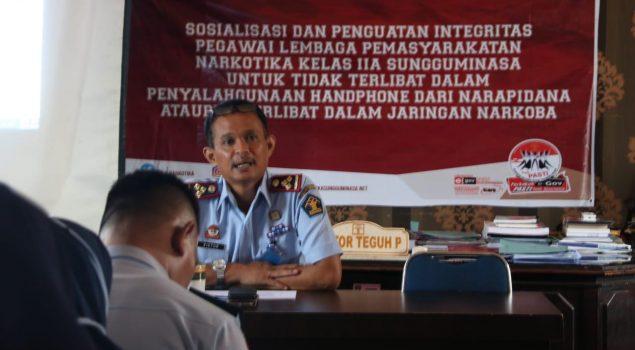 Kalapas Narkotika Sungguminasa: Petugas Jangan Terlibat HP & Narkoba dengan Napi
