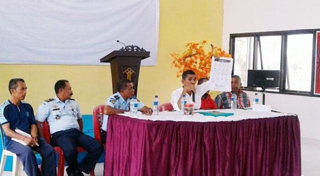 Petugas & WBP Ikuti Sosialisasi Pemilu 2019 di Lapas Piru