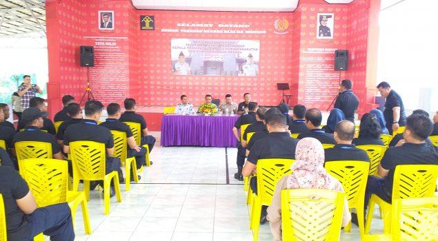 Peserta Diklat Komandan Regu Jaga Belajar ke Rutan Manado